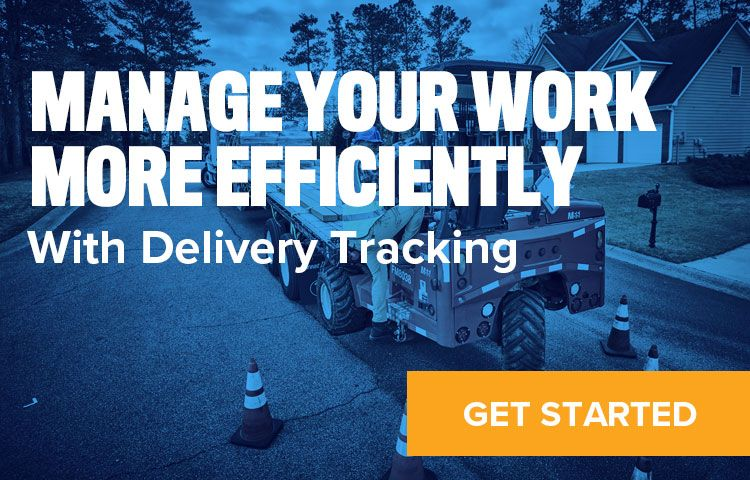 Link to Delivery Tracking sign up