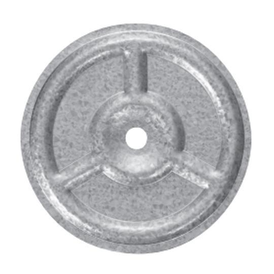 "3"" Ribbed Galvanized Insulation Plates - Carton of 1000"