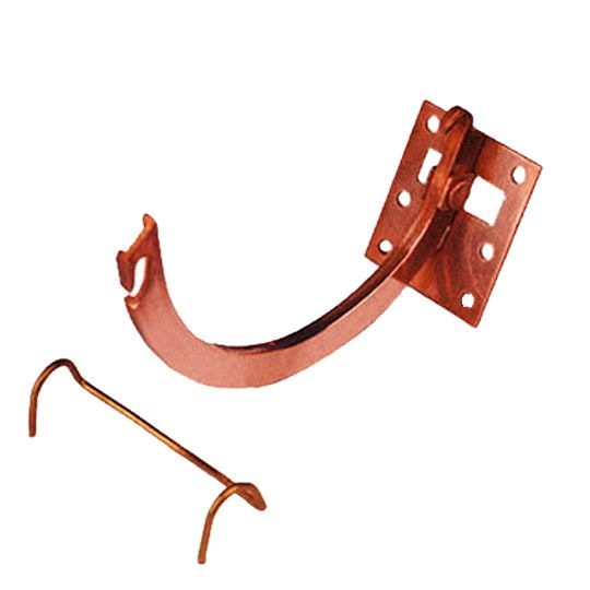"""#10 x 6"""" Half Round Copper Combo Circle & Shank with Spring Clip"""