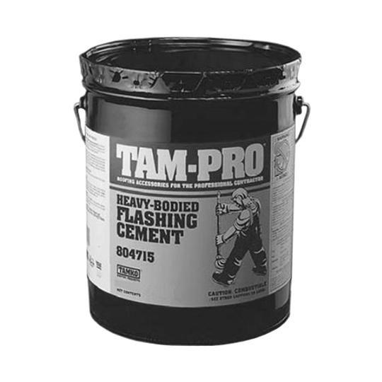 TAM-PRO Q-5 Heavy-Bodied Flashing Cement - Summer Grade - 5 Gallon Pail