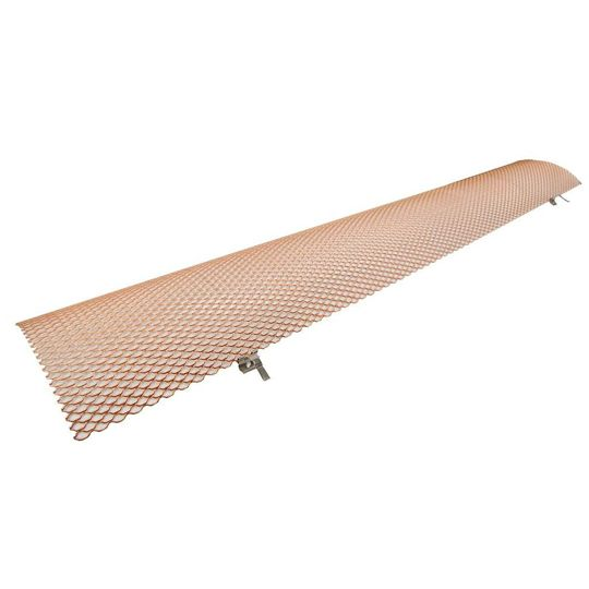"""6"""" x 3' Half Round Hinged Copper Gutter Guard - Carton of 25"""
