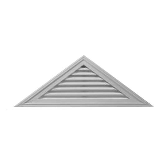 """21"""" x 62-1/2"""" Triangle Gable Vent with 8/12 Pitch"""