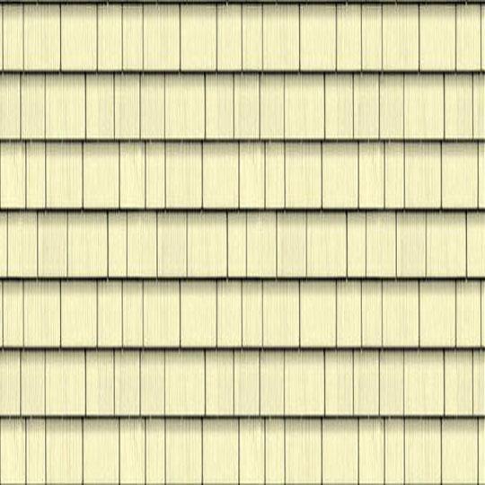 "Cedar Impressions® Triple 5"" Straight Edge Perfection Polymer Shingle Siding - Cedar Grain Finish"