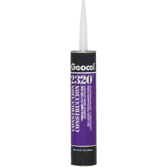 2320 Construction Tripolymer Gutter & Narrow Seam Sealant - 10.3 Fl. Oz. Cartridge