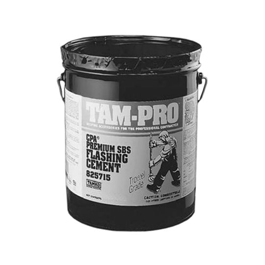 TAM-PRO Q-20 Premium SBS Flashing Cement - Summer Grade - 3 Gallon Pail