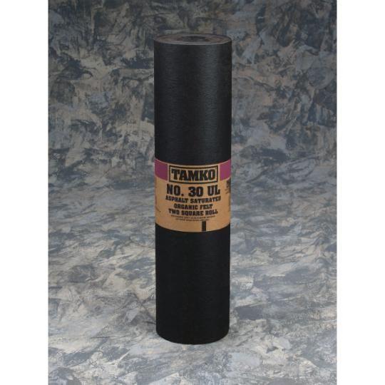 No. 30 UL Asphalt Saturated Organic Felt - 2 SQ. Roll