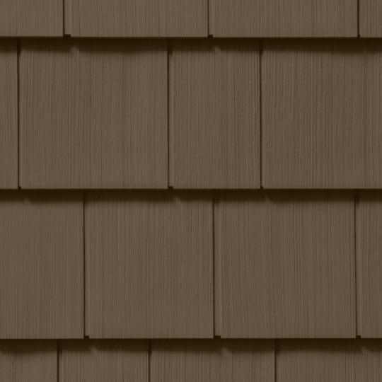 "Cedar Impressions® Double 7"" Straight Edge Perfection Polymer Shingle Siding - Cedar Grain Finish"