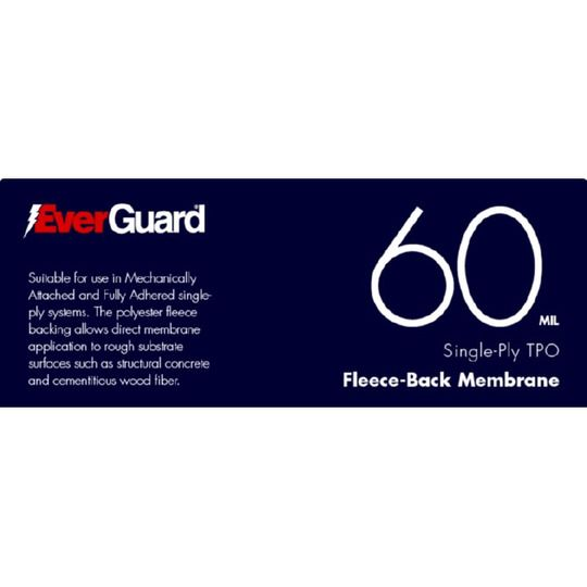 60 mil x 10' x 100' EverGuard® TPO Fleece-Back