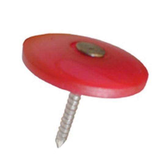 """1"""" Plex-Cap Plastic Cap Nail - Pail of 3000"""