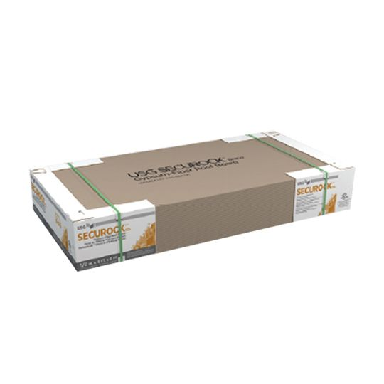 "1/2"" x 4' x 8' SecuRock® Gypsum-Fiber Roof Board"