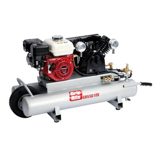 10 Gallon 5.5 HP Gas Wheelbarrow Compressor