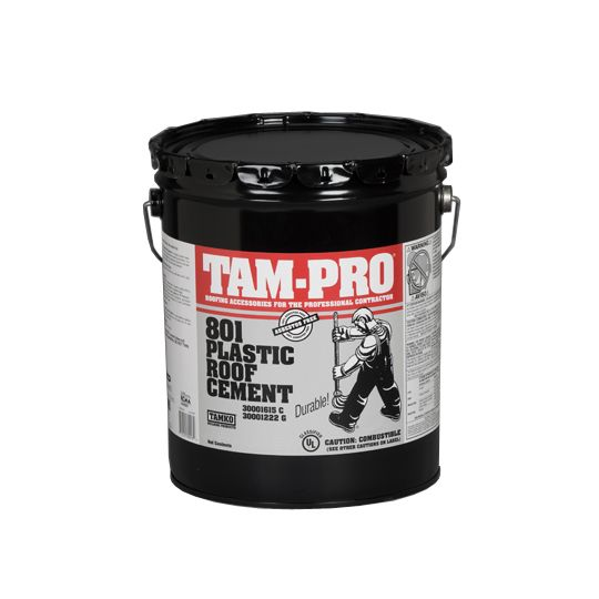TAM-PRO 801 Plastic Roof Cement - Summer Grade - 5 Gallon Pail