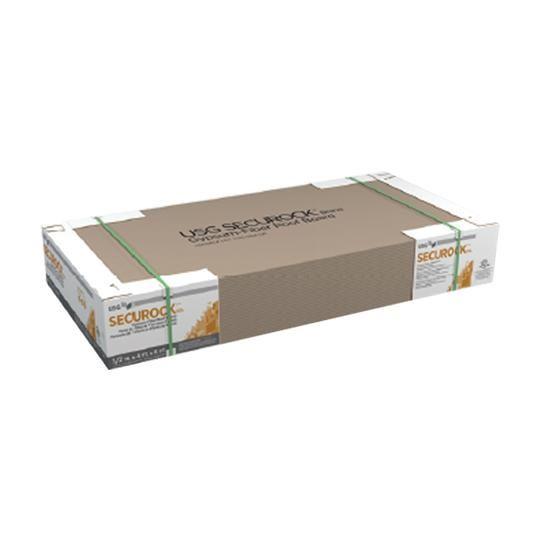 "1/2"" x 4' x 4' SecuRock® Gypsum-Fiber Roof Board"