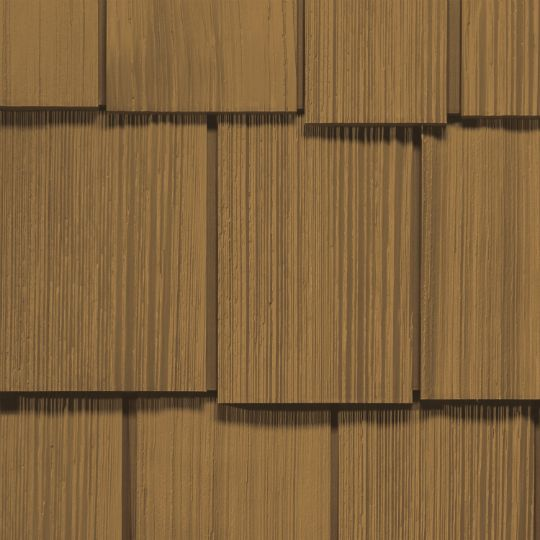 "Cedar Impressions® Double 9"" Staggered Rough-Split Polymer Shake Siding"