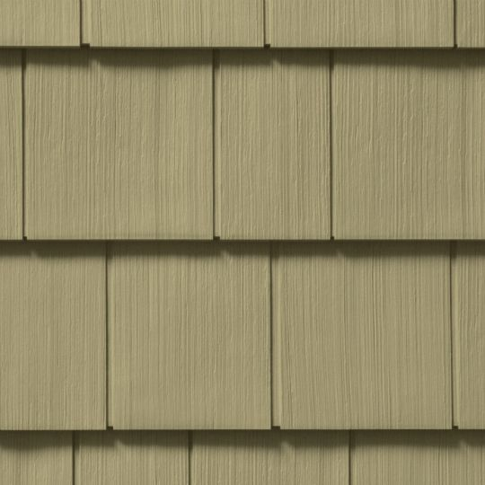 "Cedar Impressions® Double 7"" Straight Edge Perfection Polymer Shingle Siding - Cedar Grain Finish"