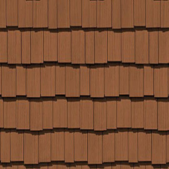 "Cedar Impressions® Double 7"" Staggered Perfection Polymer Shingle Siding - Cedar Grain Finish"