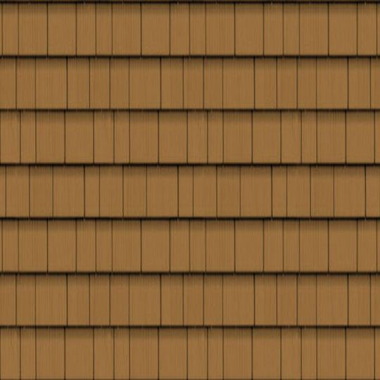 "Cedar Impressions® Triple 5"" Straight Edge Perfection Polymer Shingle Siding - Cedar Grain Finish"