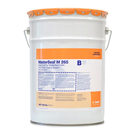 MasterSeal® M 265 2-Part Fast-Cure Basecoat - 4.66 Gallon Kit