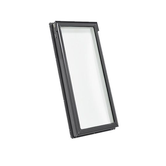"21"" x 45-3/4"" Rough Opening Fixed Deck Mounted Skylight with Aluminum Cladding and Tempered Low E3 Glass"