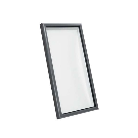 "25-1/2"" x 25-1/2"" Outside Curb Curb Mounted Skylight with Aluminum Cladding and Tempered Low-E3 Glass"