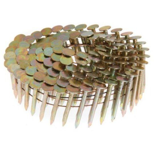 "1-1/4"" Ring Shank Coil Roofing Nails - Dade County Approved"
