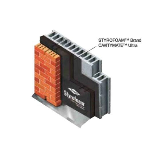 "2.18"" x 16"" x 96"" Styrofoam™ CavityMate™ Ultra Insulation"