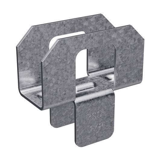 "20 Gauge 1/2"" Galvanized Plywood Sheathing Clip - Carton of 250"