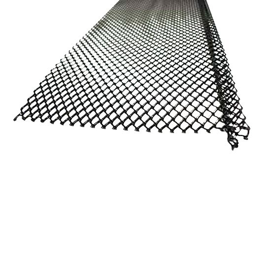 "5"" Ultra Flo Small Hole Steel Powdered Coated Gutter Screen"