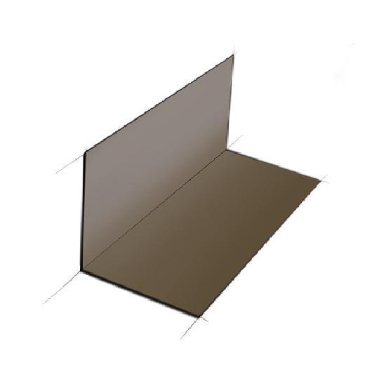 "30 Gauge x 4"" x 4"" x 8"" Pre-Bent Steel Step Flashing - Box of 100"