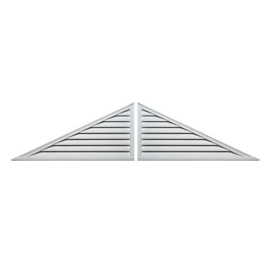"60"" x 25"" Decorative Two-Piece Triangle Louver"