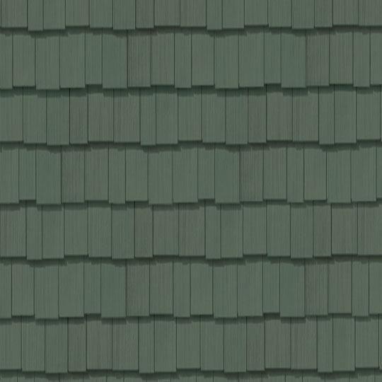 "Cedar Impressions® Double 7"" Staggered Perfection Polymer Shingle Siding - Cedar Grain Finish"