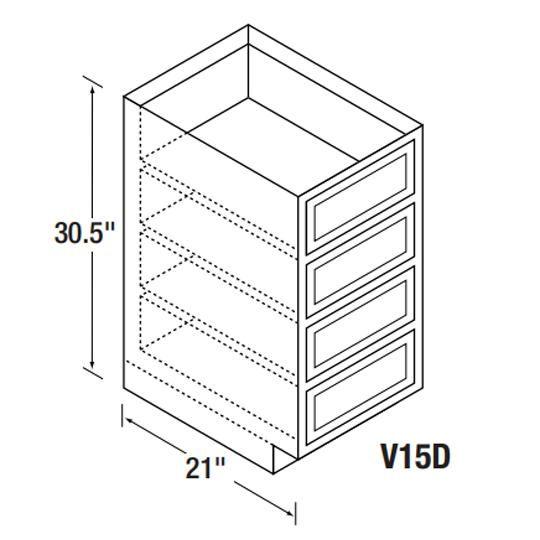 V15D Bretwood Vanity Cabinet