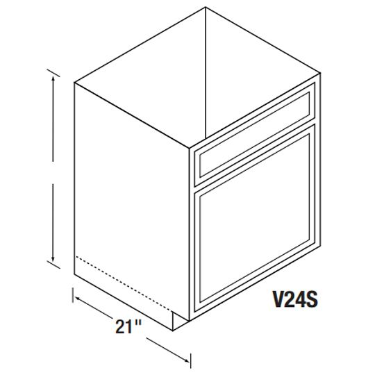 V24S Bretwood Vanity Cabinet