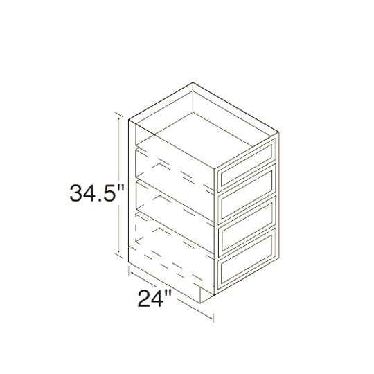 18D Oak Drawer Cabinet