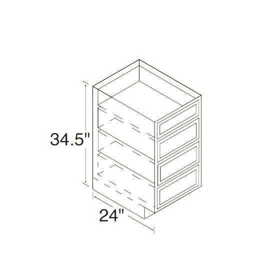 24D Oak Drawer Cabinet