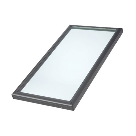 "25-1/2"" x 49-1/2"" Outside Curb Curb Mounted Skylight with Aluminum Cladding and Laminated Low-E3 Glass"