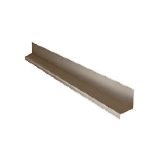 """28 Gauge x 1-1/4"""" x 10' Steel Drip Cap"""