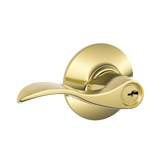 F51 Accent Entry Lever with Keyed Lock