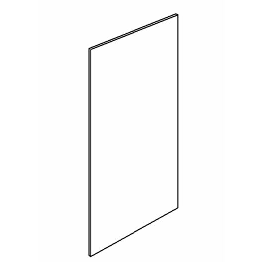 """48"""" x 96"""" Plywood Veneer Finished End Panel"""