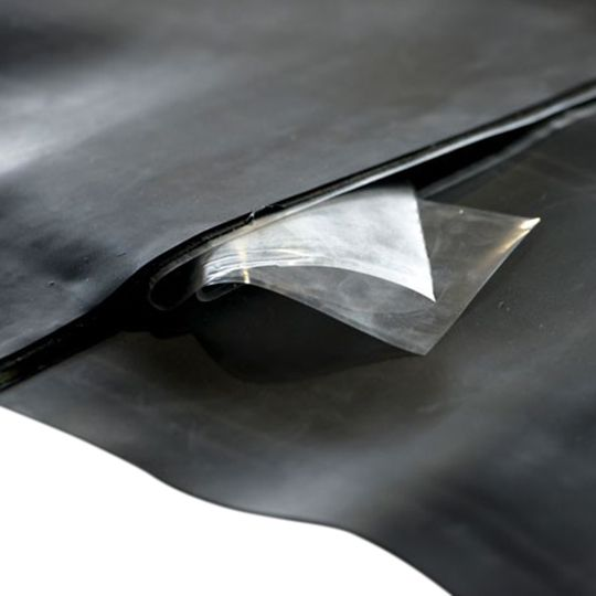 """EPDM NR Membranes with 4"""" Factory Inseam Two-Sided Tape"""