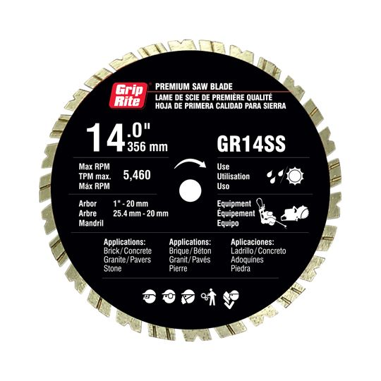 "14"" SUPER SPEED Premium Quality Segmented Blade"
