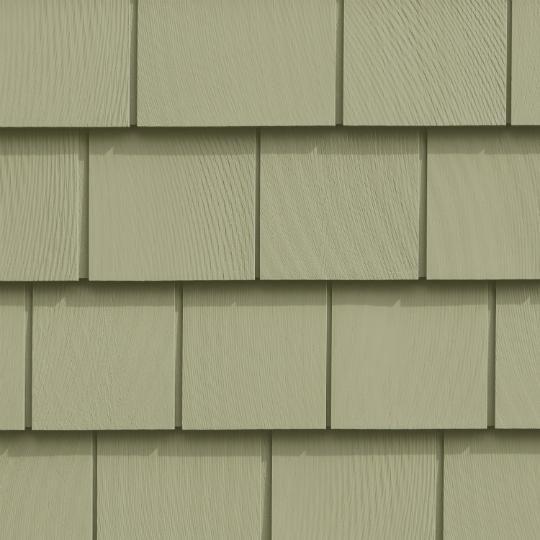"Cedar Impressions® Triple 5"" Straight Edge Sawmill Polymer Shingle Siding"
