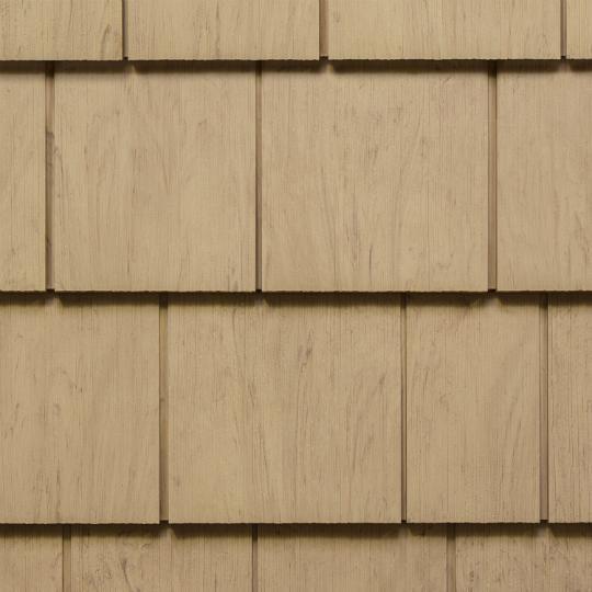 "Cedar Impressions® Single 7"" Perfection Polymer Shingle Siding - Cedar Grain Finish"