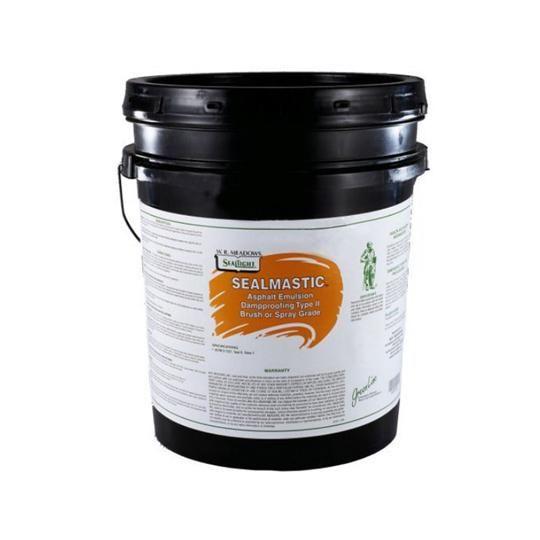 SealMastic™ Emulsion Type II Brush/Spray-Grade Dampproofing - 5 Gallon Pail