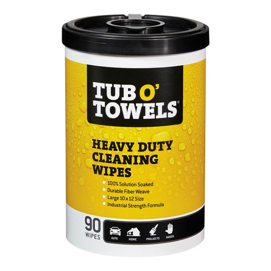 Tub O' Towels Heavy Duty Cleaning Wipes - 90 Count Dispenser