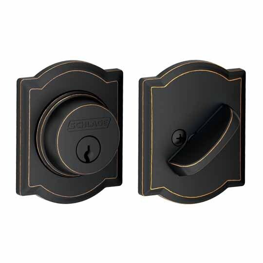 B60 Single Cylinder Deadbolt with Camelot Trim