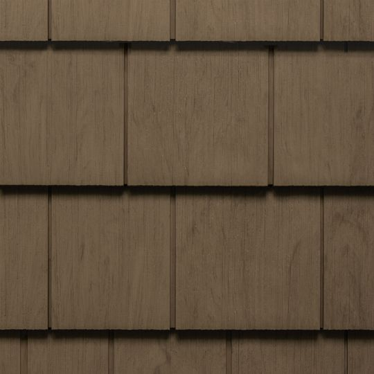 "Cedar Impressions® Single 7"" Perfection Polymer Shingle Siding - Cedar Grain Finish"