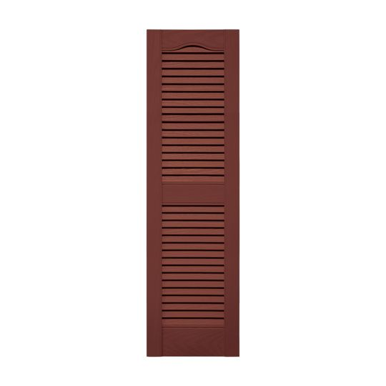"""14-1/2"""" x 25"""" Standard Cathedral Top Open Louver Shutters (Pair)"""