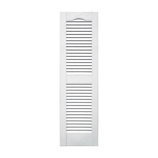 Standard Cathedral Top Open Louver Shutters (Pair)