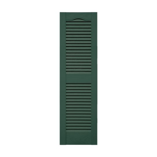 """14-1/2"""" x 31"""" Standard Cathedral Top Open Louver Shutters (Pair)"""